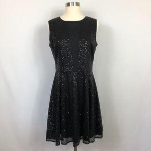 Cynthia Rowley Black Sequin Dress Size 6